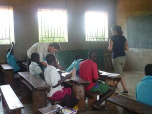 Volunteer teaching English abroad
