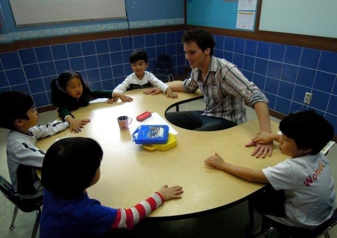 Teaching English to kindergarten kids