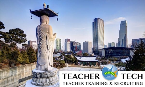 Recruitment for hagwon teaching jobs in South Korea