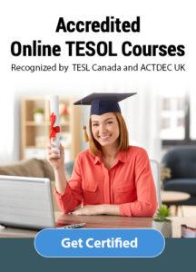 Get TESOL certified online.